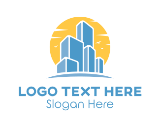 Buildings - Sunset City Buildings logo design