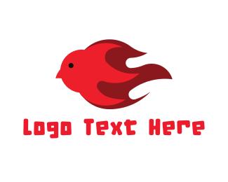 Dove - Fire Dove logo design