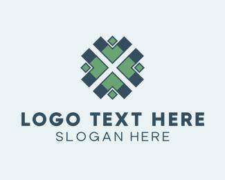 Needlework - Arrow Pattern logo design