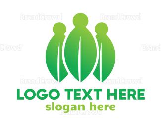 Crowdsourcing - Leaf People logo design