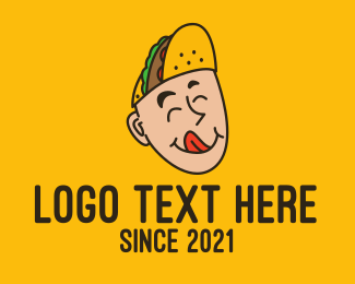 Taco Truck - Mexican Taco Head logo design