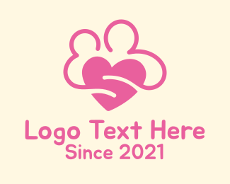 Wedding Proposal - Pink Lovely Couple logo design