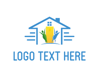Community Foundations Eco House logo design