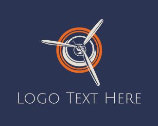 Propeller - Airplane Propeller logo design