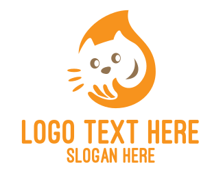 Pet Groomer - Yellow Cat Care logo design