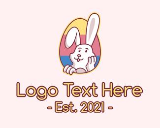 Animal - Multicolor Easter Bunny  logo design