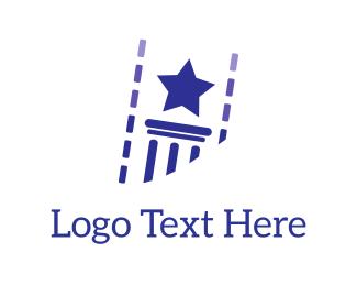 Column - Star & Column logo design