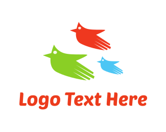 Finger - Three Flying Hands logo design