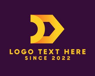 Finance - Golden Letter D logo design