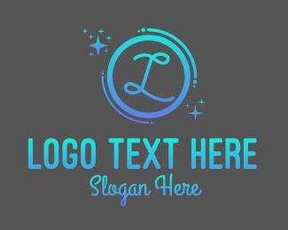 Sparkling - Gradient Sparkle Lettermark logo design