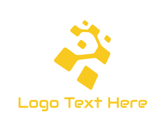 Programming - Yellow Technology logo design
