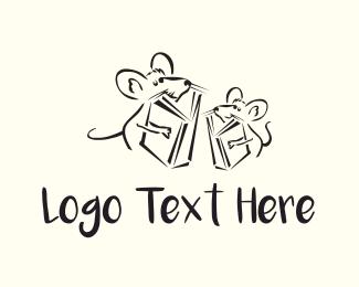 Mice Cartoon Logo