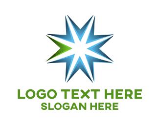 Lawyer - Blue Arrow Star logo design