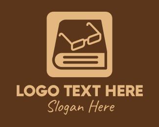Glasses - Reading Glasses Ebook Book logo design