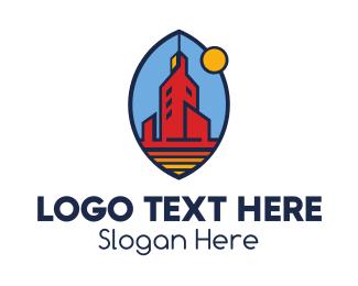 Modern Oval Tower  logo design