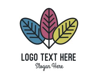 Leaves - Three Leaves logo design