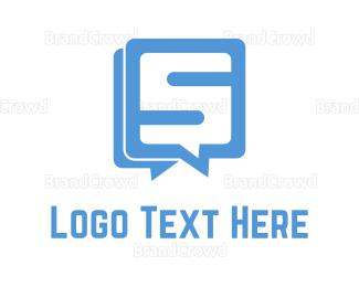 Language - Chat & Letter S  logo design
