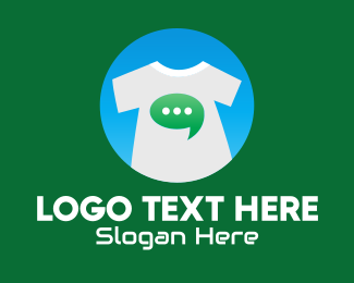 Site - Message Bubble Shirt logo design