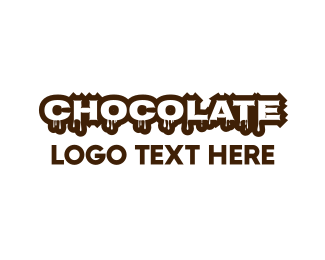 Brown Cupcake - Melting Chocolate logo design