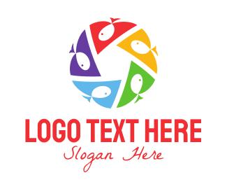 Playgroup - Fish Circle logo design