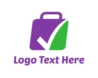 Green And Purple - Verified Luggage logo design
