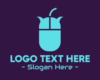 Clouding - Mouse Chat Bubbles logo design