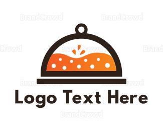 Tray - Orange Juice Tray logo design