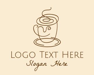 Saucer - Coffee Cup Scribble  logo design