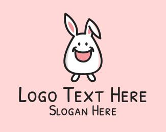 Easter Bunny - Happy Bunny Rabbit Kid logo design