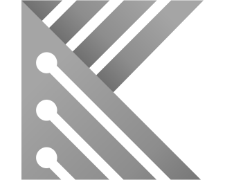 Future - Letter K Circuit Board logo design