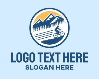 Mtb - Mountain Bike Cyclist  logo design