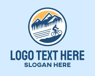 Exercise - Mountain Bike Cyclist logo design
