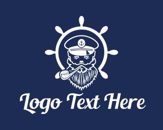 Fish Market - Sea Captain logo design