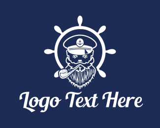 Vape - Sea Captain logo design