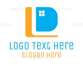 Window - Window Letter D logo design