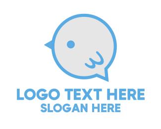 Little - Chat Bird logo design