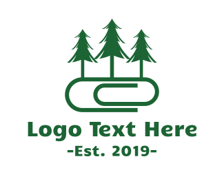 Paperclip - Forest Office logo design