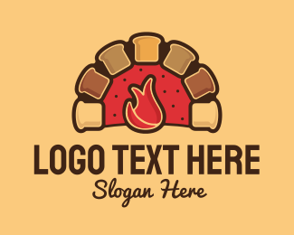 Fire - Bakery Food Oven logo design