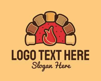 Oven - Bread Oven logo design