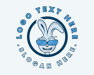 Trendy - Cool Rabbit Sunglasses logo design