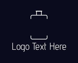 Suitcase - White Luggage logo design