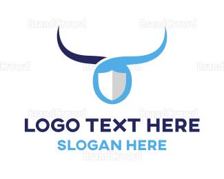 Buffalo - Blue Bull Shield logo design