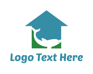 Flood - Blue Green Dolphin  logo design