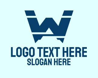 Letter W - Mountain Letter W logo design