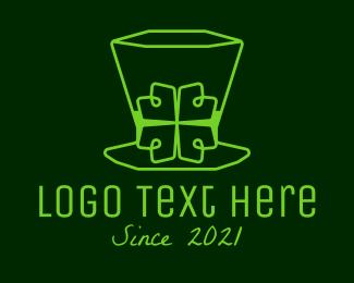 Hat - Minimalist Leprechaun Hat logo design