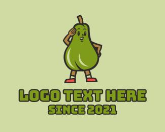 Fresh Produce - Fresh Avocado Salute  logo design