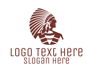Cherokee - Native Tribal Chief logo design