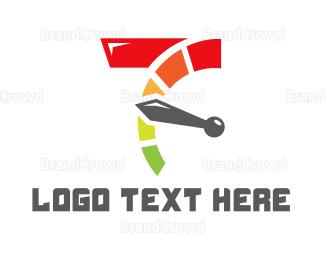 Drag Racing - Seven Speed logo design