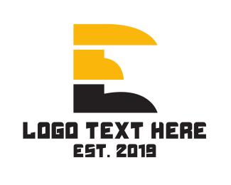 Web Browser - Red Black Tech E logo design