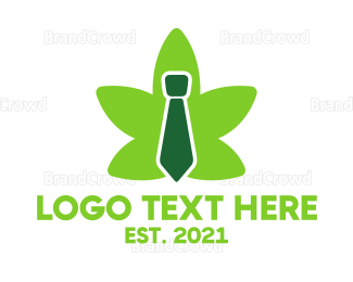Joint - Cannabis Tie logo design